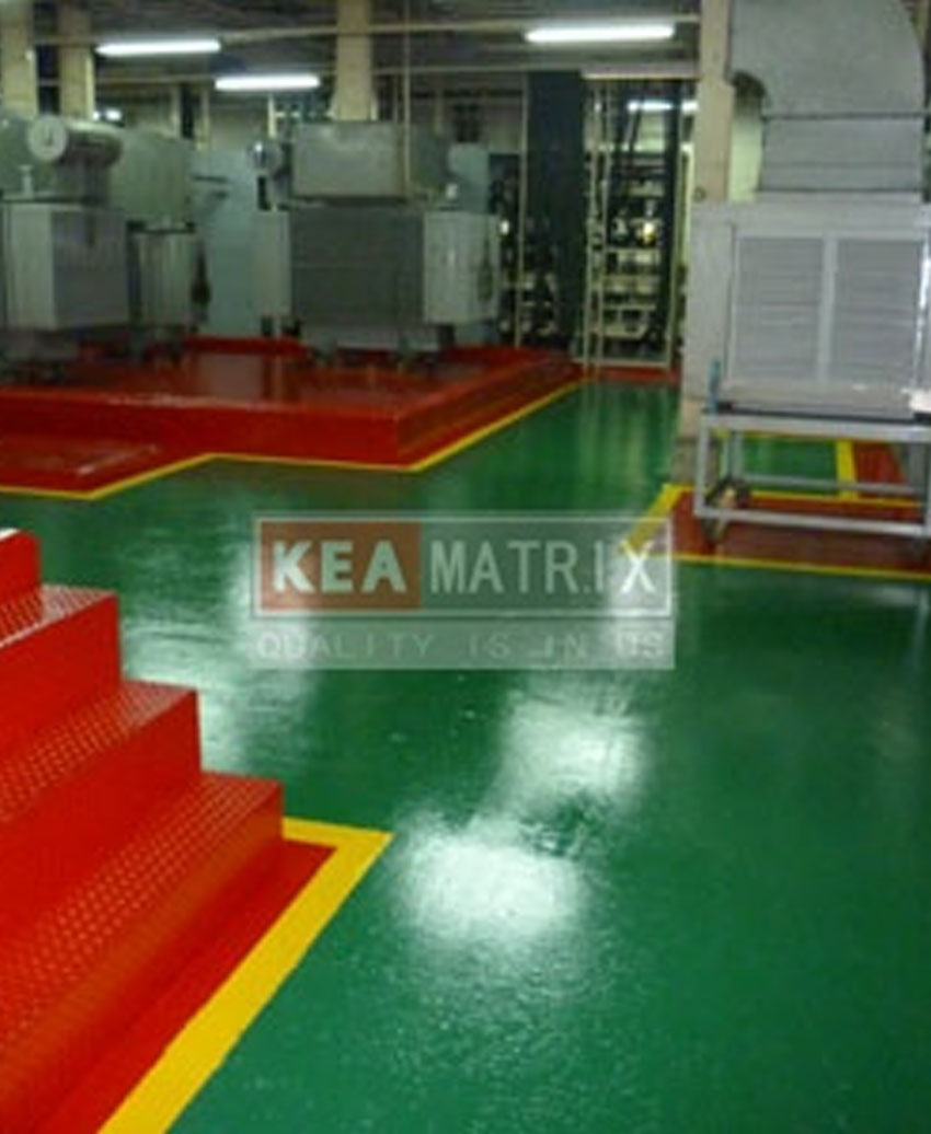 coating floor@electric room