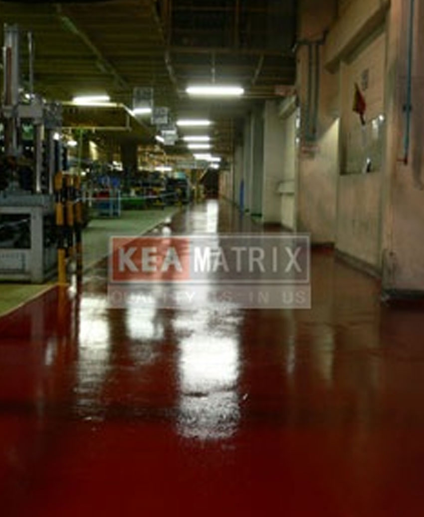 coating floor@production line