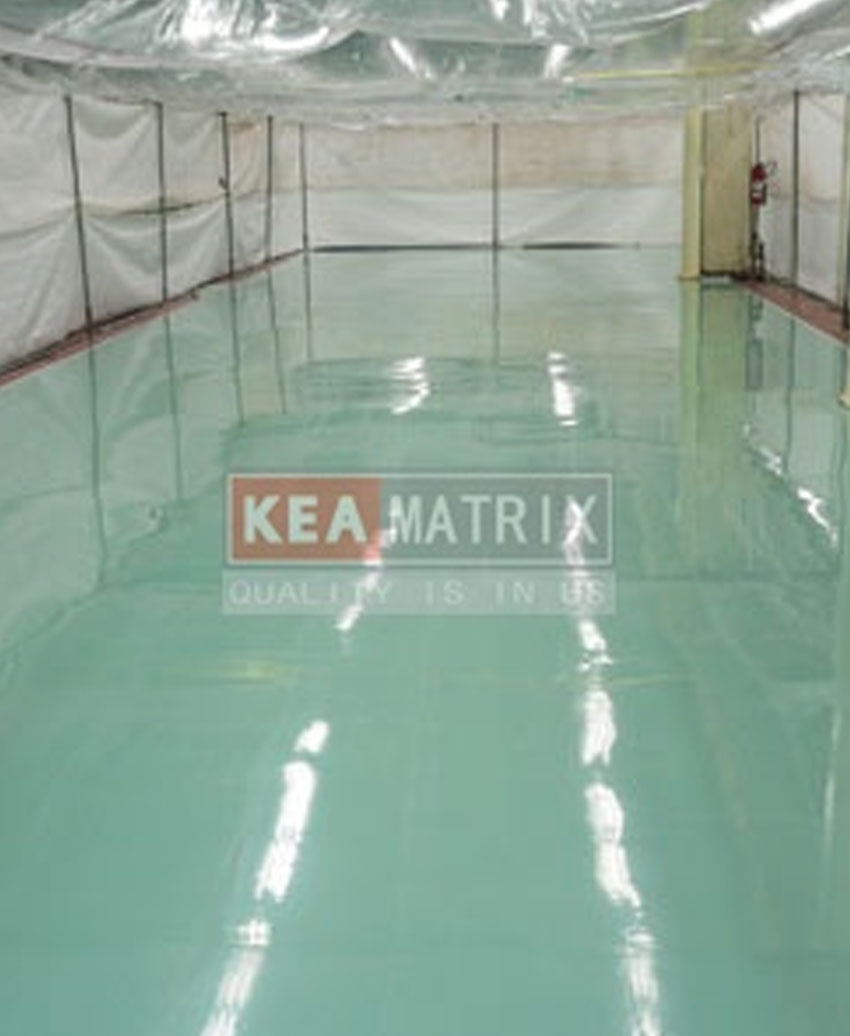epoxy self-leveling floor#pale green