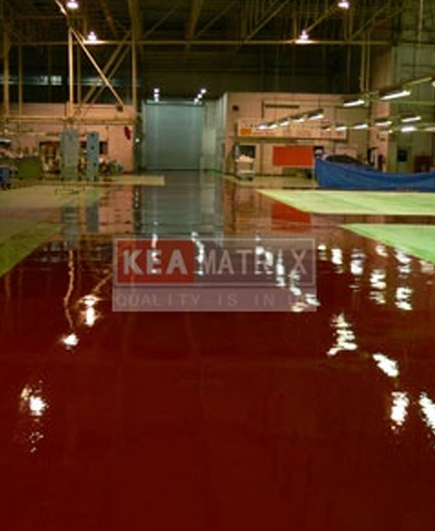 epoxy self-leveling for car manufacturing